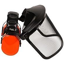 Malla de acero Máscara Facial y protectores de oído con plegable visera