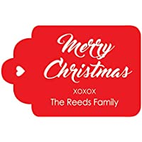 100pezzi por encargo Etichette di carta personalizzabile appendere la celebración di etichette da regalo Feliz Navidad rosso