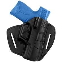 VlaMiTex - Pistolera de extracción rápida para IPSC de Smith & Wesson M&P 9 compacta, 100% piel