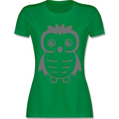 Eulen, Füchse & Co. - Eule - tailliertes Premium T-Shirt mit Rundhalsausschnitt für Damen Grün