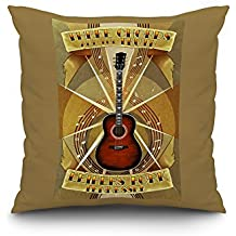Leiper's Fork, Tennessee - Three Chords and The Truth (20x20 Spun Polyester Pillow Case, Custom Border)