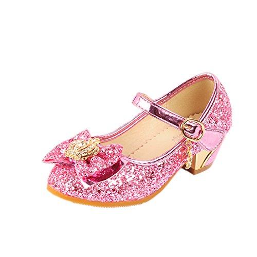 O&N Kinder Prinzessin Schuhe Sandale Ballerina mit Schmetterling und Paillette für Mädchen Kostüm Party - Kleinkind Schmetterlings Prinzessin Kostüm