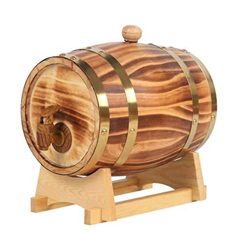 CHENG Whisky Wein Fass Weinspender Lagerung Oder Alterung Wein Spirituosen Weinfass Wein Anzug für Zuhause, Bar, Party und Bankett 10L