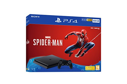 Sony PlayStation 4 500GB Console (Black) with Marvel's Spider-Man [Edizione: Regno Unito]