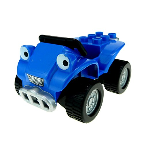 1 x Lego Duplo Bau Fahrzeug Auto Sprinti blau schwarz Jeep Quad Bob der Baumeister Figur Scrambler 3594 3299 54007c02 54005pb01