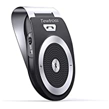 Tewtross Bluetooth Car Kit HandsFree Speaker V4.1 Speakerphone HD Audio Receiver with Motion Sensor Power On