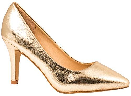 Elara Damen Pumps Spitze High Heels Stilettos Lack| chunkyrayan 1230-a-Go-37