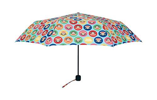 PAUL FRANK® Monkey Dots Regenschirm Schirm, öffnet manuell in 3 Sekunden, 53 cm lang und 300 gramm leicht, windproof