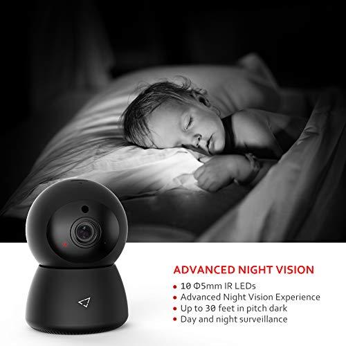 Victure 1080P Cámara IP WiFi, Cámara de Vigilancia FHD con Visión Nocturna, Detección de Movimiento, Audio bidireccional,  2.4GHz WiFi, Compatible con iOS/Android