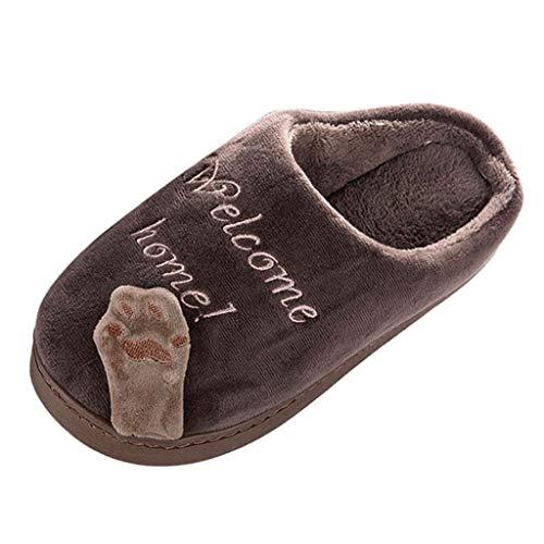 LILIGOD Erwachsene und Kinder Winter Plüsch Hausschuhe Warme Baumwolle Hausschuhe mit Cartoon Bequeme rutschfeste Slippers Home Weiche Pantoffeln für Herren Damen Mädchen Jungen -