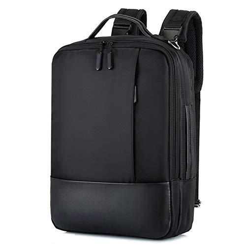 Laptoptasche mit USB-Ladeanschluss und Kopfhöreranschluss , Neue Herrenrucksack Outdoor-Reiserucksack Lässige Herrentasche USB-Aufladung Multifunktions-Dekompressions-Computertasche, Schwarz