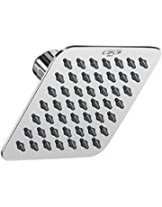 Asian Paints EssEss 4 inch Square Rainfall Shower Head, Easy to Clean nozzles, sleek stainless steel Body, Contemporary Design (Chrome)