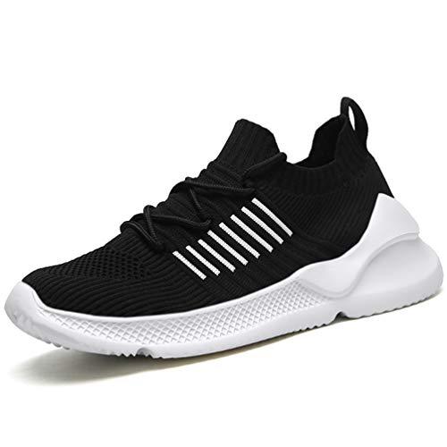 FLARUT Laufschuhe Herren Fitness Schuhe Damen Freizeitschuhe Sportschuhe Leichtes Gym Sneakers Straßenlaufschuhe Turnschuhe Running Shoes for Trainers Atmungsaktiv(schwarz,39)