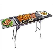 Barbecue All'esterno Del Barbecue Barbecue Portatile Del Carbone Di Legna Home Più Spessi Pieghevoli Della Scaletta Del Barbecue