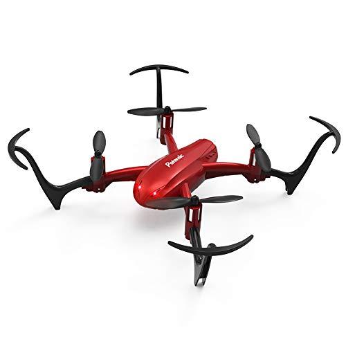 Potensic Mini Drohne RC Helikopter Quadrocopter ferngesteuert mit app Steuerung, Kopflos-Modus, Höhe-halten-Funktion, EIN-Tasten-Start und -Landen, Ideal für Anfänger und Kinder (D10 Rot)