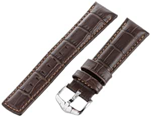 Hirsch 025280-10-22 22 -mm Genuine Calfskin Bracelet de Montre