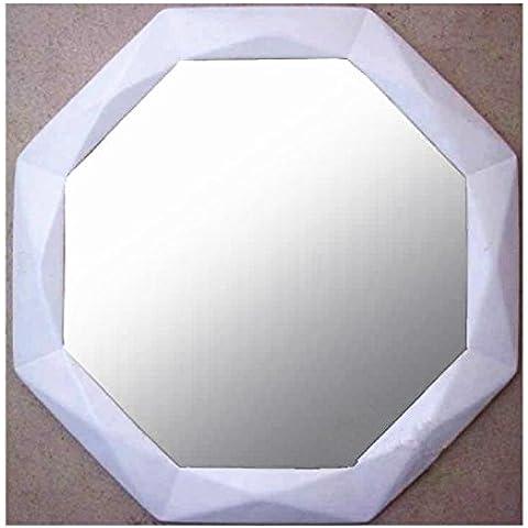 Modern Chinese Retro Industrial Air Ingresso parete decorativo Dressing Table Cosmetic Mirror geometrica esagonale Bathroom Specchio puro mestiere Handmade (OY-317)