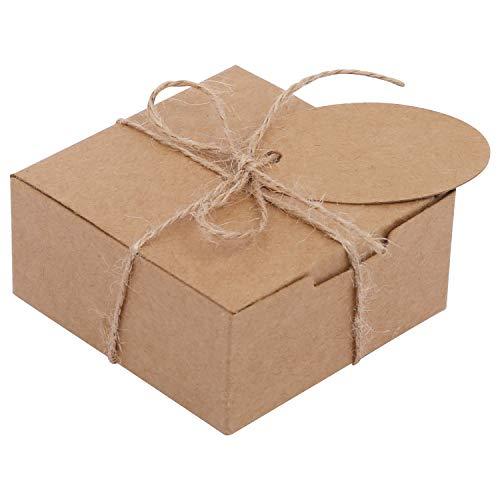 Kraft Cajas de Regalo Pack de 50 - 7