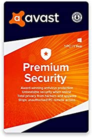 Avast Premium Security (Total PC Security) (1 PC   1 Year) (Email Delivery in 1 Hour- No CD)