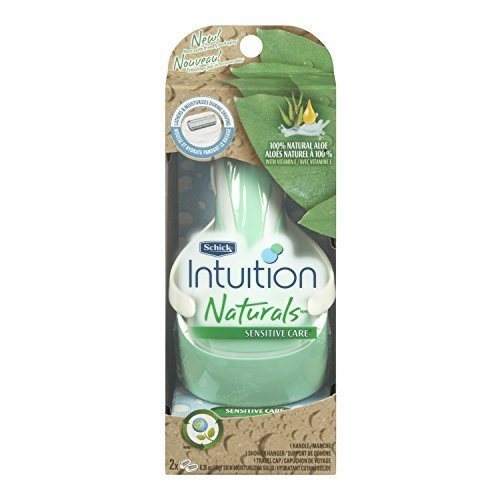 schick-intuition-sensitive-care-razor-for-women-with-2-moisturizing-razor-blade-refills-with-natural