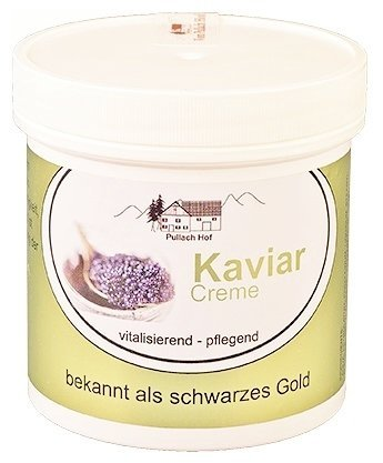 1x Kaviar Creme 250ml Pullach Hof aus dem Allgäu, Creme mit dem Extrakt aus der Tiefe des Meeres, bekannt als schwarzes Gold, MADE IN GERMANY - Die Hp Factory