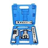Semme Bördelwerkzeug 5 in 1 Manuelles Rohr Bördelwerkzeug-Kit Kupferrohr-Expander für die Reparatur der Kühlschrankkühlung