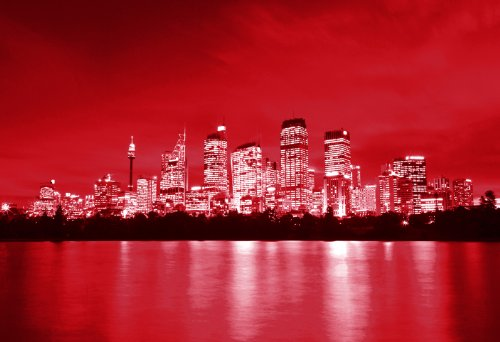 large-canvas-art-print-red-sydney-on-water-wall-art-picture-ready-to-hang-30-x-20-inches