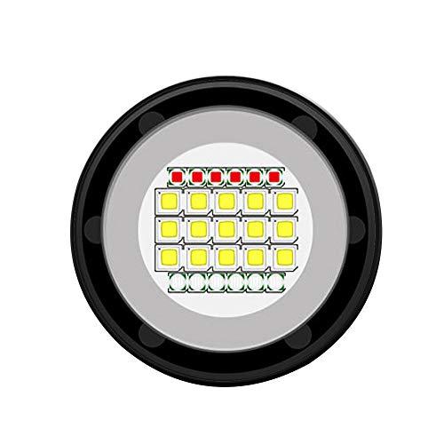 HshDUti 80m Unterwasser LED Tauchen Taschenlampe Fotografie Videokamera Fill Light Torch C Maglite O-ring