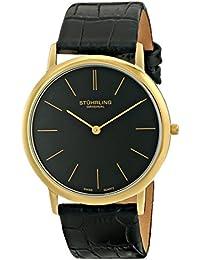 Stührling Original 601.33351.A - Reloj analógico para hombre, correa de cuero, color negro
