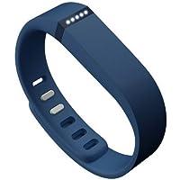 AFUNTA Set Bande Grande L ricambio con fermagli per Fitbit FLEX Solo / No inseguitore / Wireless Activity Bracciale Sport Wristband Fit Bit Flex braccialetto di sport della fascia di braccio Armband (Marina Militare)