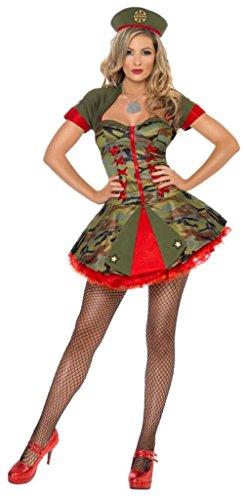Kostüm Forces Special - SMIFFY 'S Fever Boutique Special Forces Kostüm mit Hut, mit und Korsett Kleid-Kleine