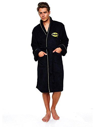 Offizielle Batman Floureszierende Fleece Morgenmantel Bademantel (Fleece Herren-robe)