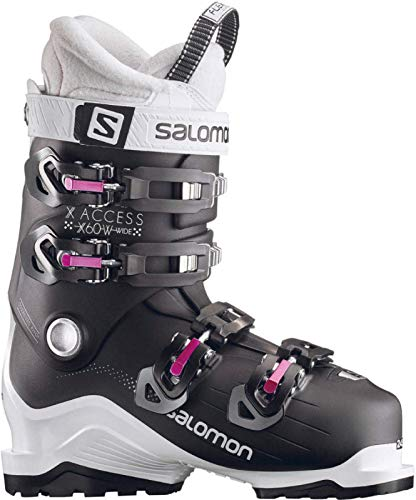 SALOMON Damen Skischuhe X Access 60 W Wide schwarz/Weiss (910) 26,5 (Salomon Alpin-ski-stiefel)
