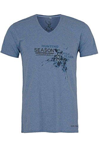 Herren Spieth & Wensky T-Shirt V-Ausschnitt Jagdrebell blau, blau, XXL