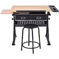 Zeichentisch Schreibtisch Architektentisch Arbeitstisch Bürotisch Kinderschreibtisch mit Schubladen höhen- und neigverstellbar