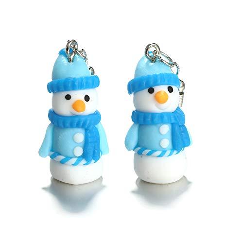 Emorias 1 Pair Damen-Ohrstecker Schneemann Modeschmuck Legierung Ohrringe Weihnachten Schmuck Accessoires Geschenke für Mädchen