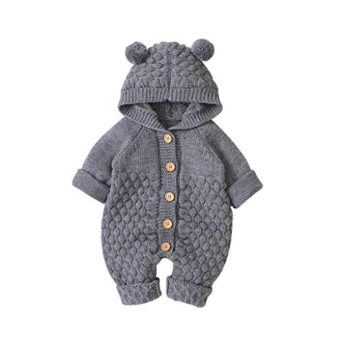 LEXUPE Neugeborenes Baby 4-teilig Daddy Little Princess Strampler Kleidung Blumenhose Set mit Stirnband und Hut(Grau,90)