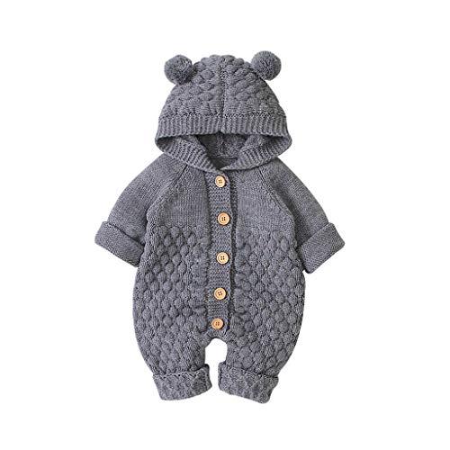 LEXUPE Baby Kleinkind Mädchen Winterjacke Kinderjacken Fell Warm Winter Coat Mantel Jacke Dicke warme Kleidung(0-24Monate)(Grau,66)