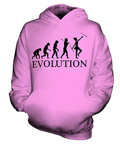 Candymix Baton Twirling Evolution des Menschen Unisex Kinder Jungen/Mädchen Kapuzenpullover, Größe 9-11 Jahre, Farbe ()
