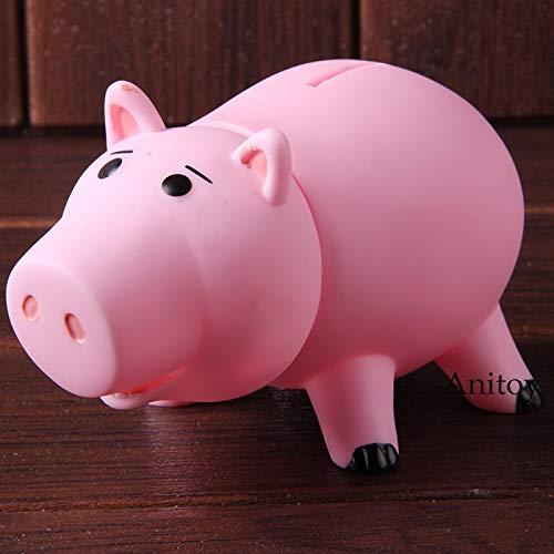 Cartoon Toy Story Hamm Sparschwein Schwein Geld Bank PVC Kawaii Action Figure Sammeln Modell Spielzeug für Kinder Kinder Geburtstagsgeschenk (Story Kuchen Toy Dekorationen)