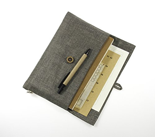 """HM&LN Journal Notebook Planner Personalized Traveler's Notebook Diary Gift for Men Women 8.6""""x5"""" Set"""