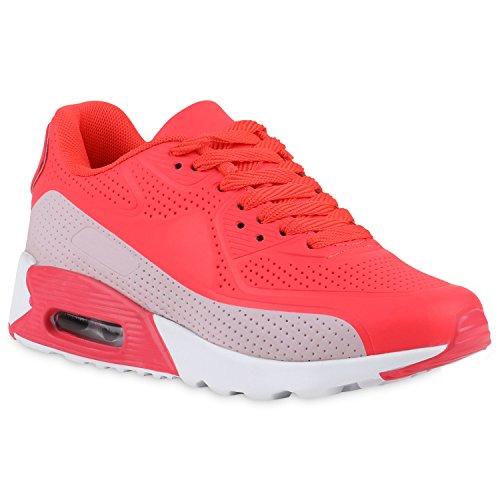 Stiefelparadies Damen Herren Unisex Metallic Sportschuhe Lack Neon  Laufschuhe Glitzer Schuhe Blumen Profilsohle Sneaker Zipper Übergrößen