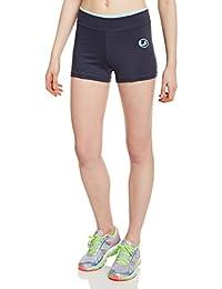 Ultrasport 10326 - Pantalón corto para mujer, color gris / verde menta, talla S