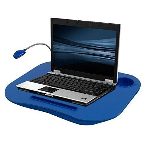 Lap Desk Cup Holder Light Blue Bed Stand Laptop Work Portable Table Buddy Reading Notebook New by - Cup Desk Laptop Holder