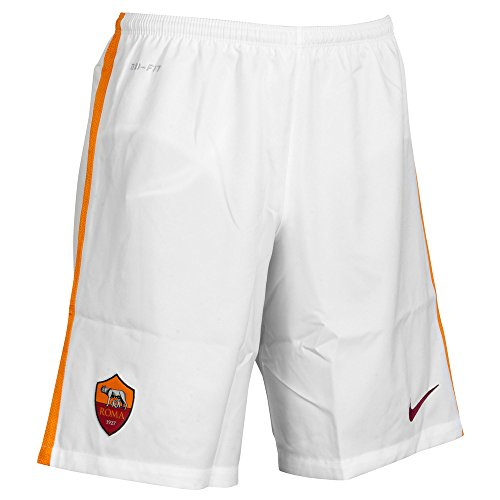 Nike Roma HA Stadium Short Pantaloncini corti da uomo, UOMO, Blanco / Naranja / Rojo (Football White/Kumquat/Team Red), XL