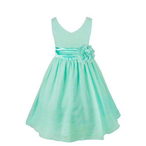 Freebily Kinder mädchen kleid festlich kinderkleid Blumensmädchenkleid Hochzeit Prinzessin Kleid...