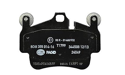 HELLA PAGID 8DB 355 014-161 Bremsbelagsatz, Scheibenbremse, Hinterachse oder Vorderachse