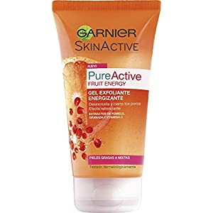 Garnier Skin Active Pure Fruit Energy Gel Exfoliante Energizante, 150 ml