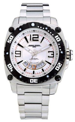 Jorg Gray JG9800-22 - Reloj analógico de Cuarzo para Hombre con Correa de Acero Inoxidable, Color Plateado