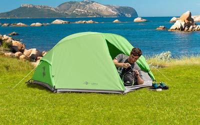 Mountain Guide Trekkingzelt Carpi 2 Personen Campingzelt Wandern Fahrrad Festival Zelt WS 6000mm